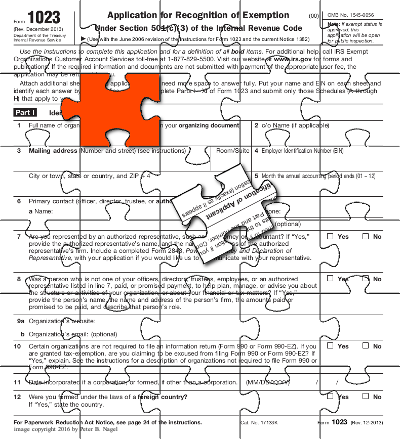 IRS form 1023 puzzle
